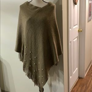 Asymmetrical Poncho over the Shoulder One Size